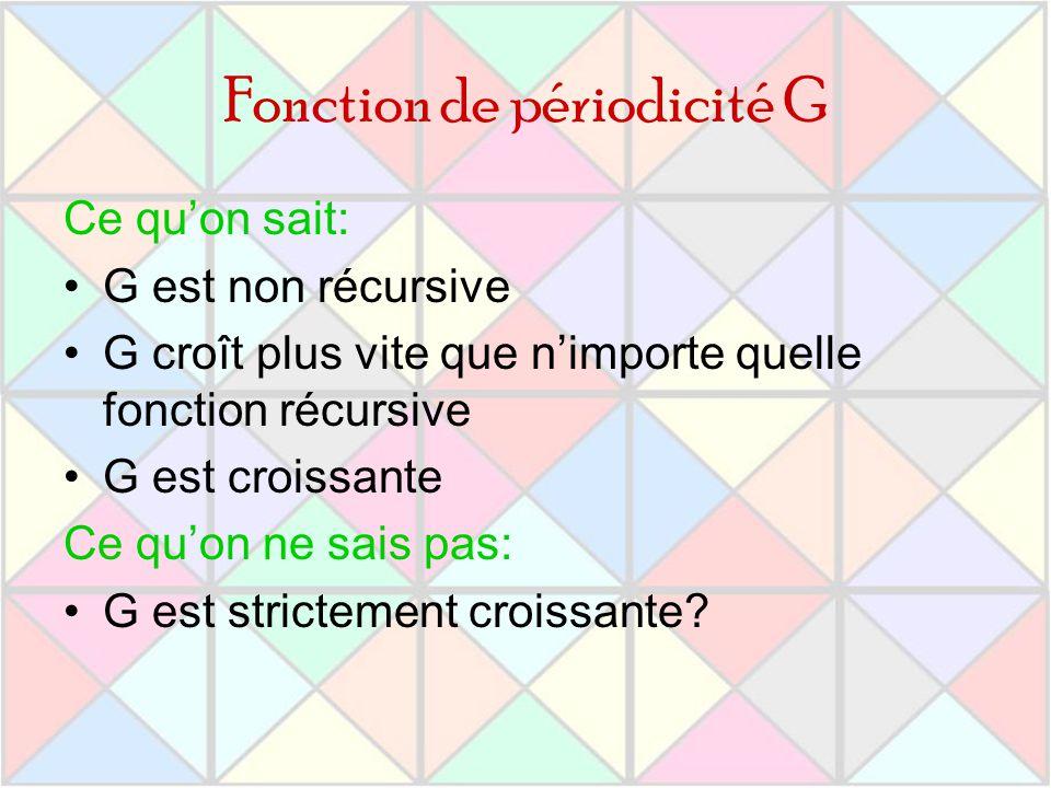 Fonction de périodicité G