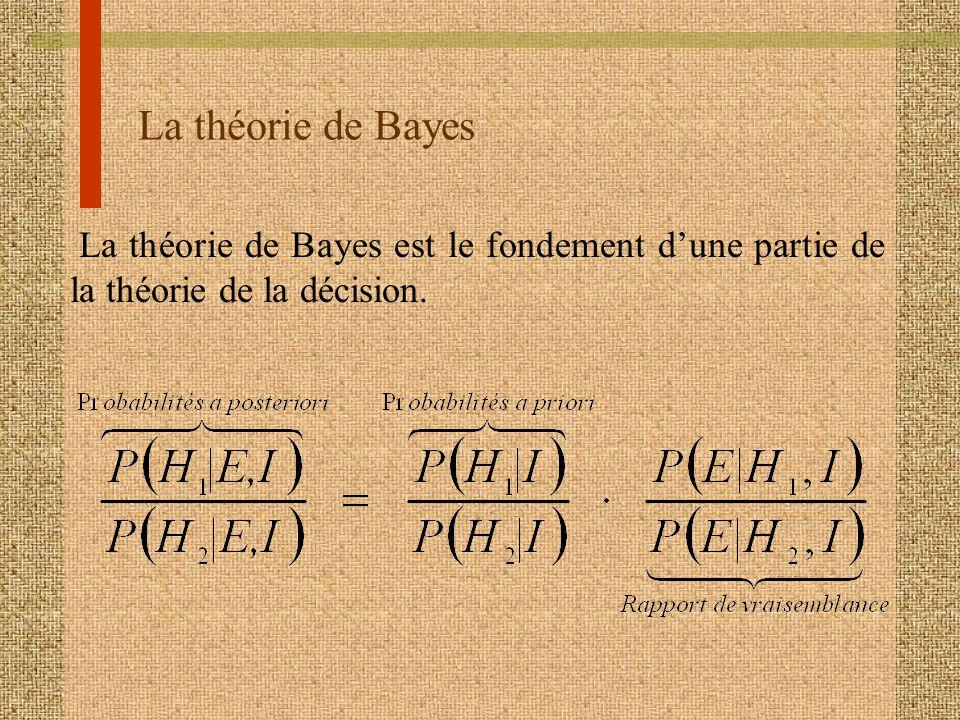 La théorie de Bayes La théorie de Bayes est le fondement d'une partie de la théorie de la décision.