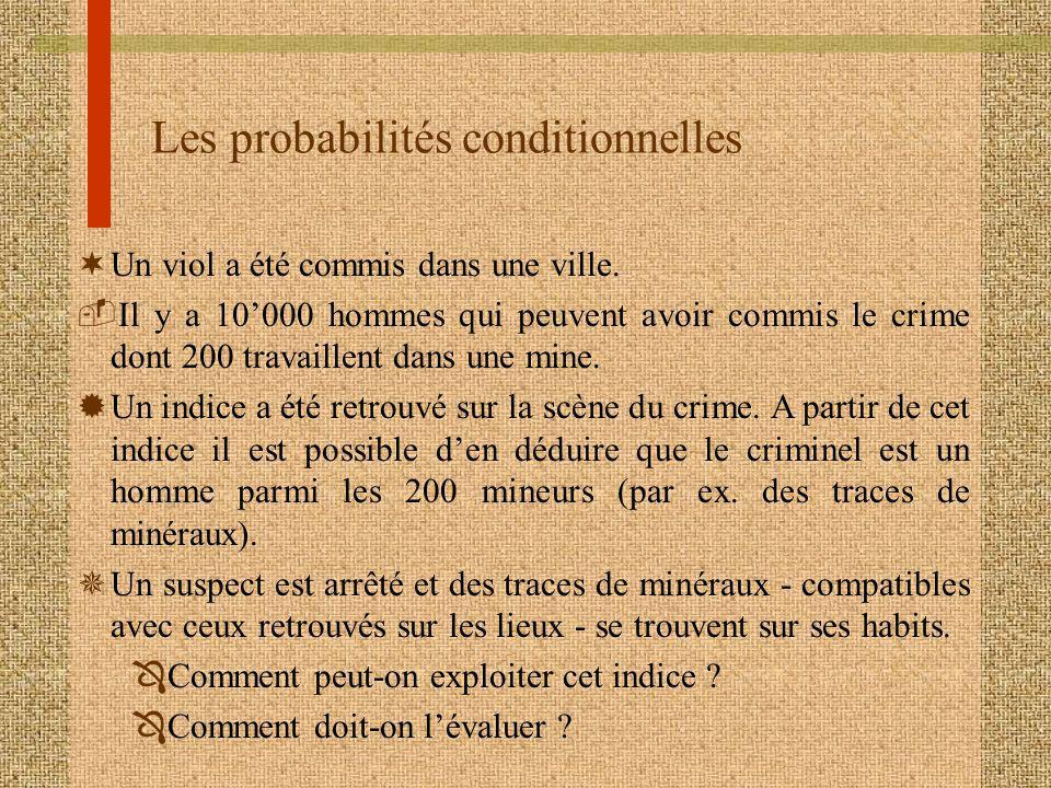 Les probabilités conditionnelles
