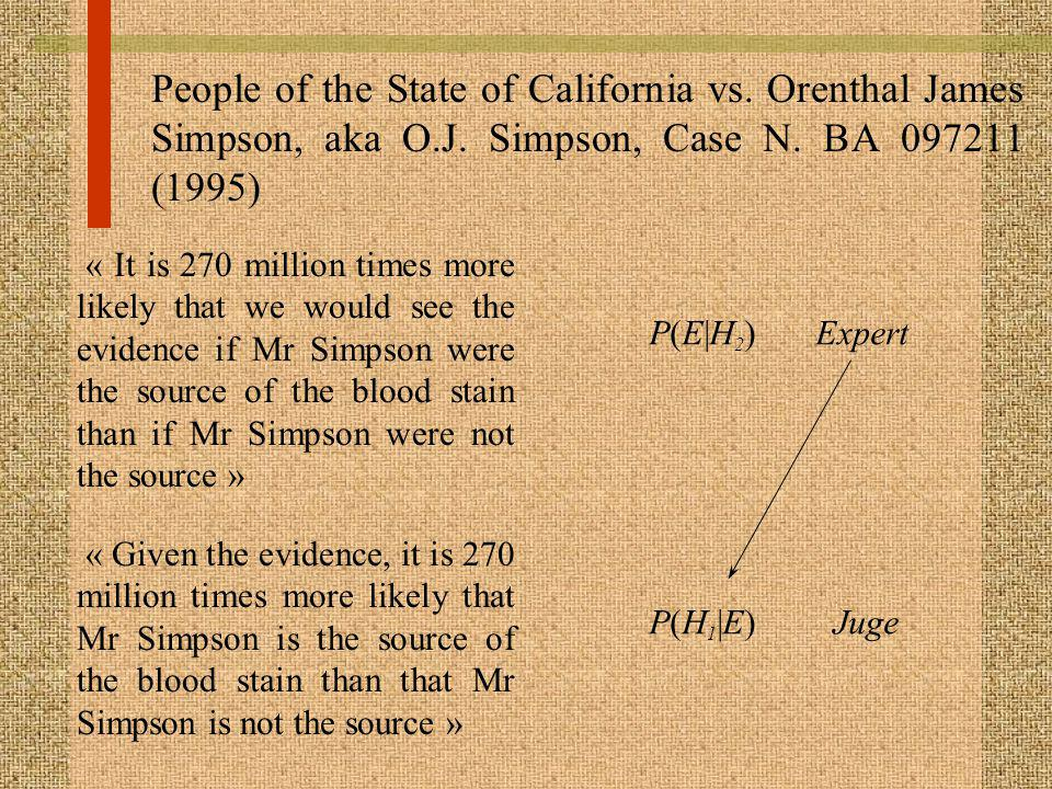 People of the State of California vs. Orenthal James Simpson, aka O. J