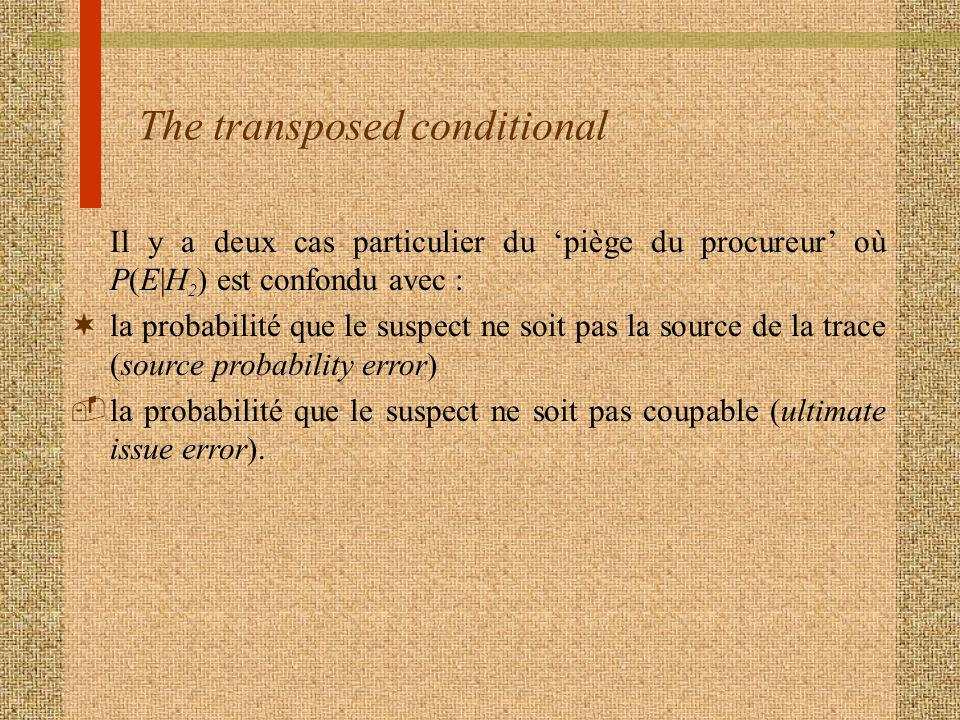 The transposed conditional