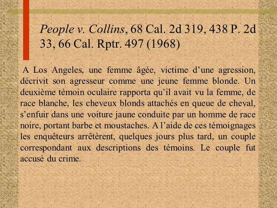 People v. Collins, 68 Cal. 2d 319, 438 P. 2d 33, 66 Cal. Rptr