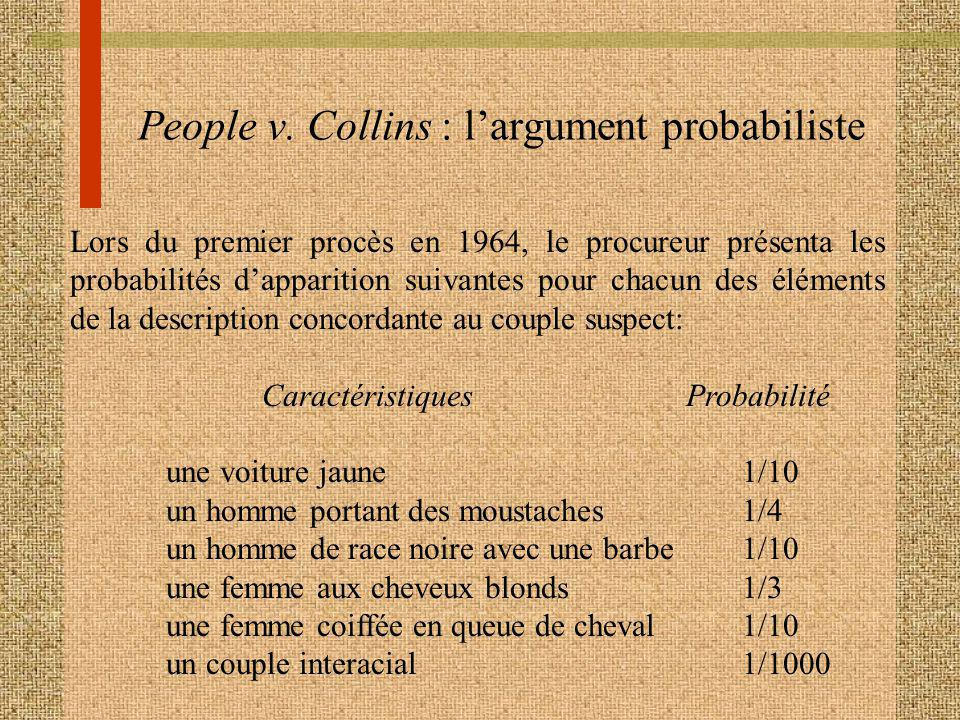 People v. Collins : l'argument probabiliste