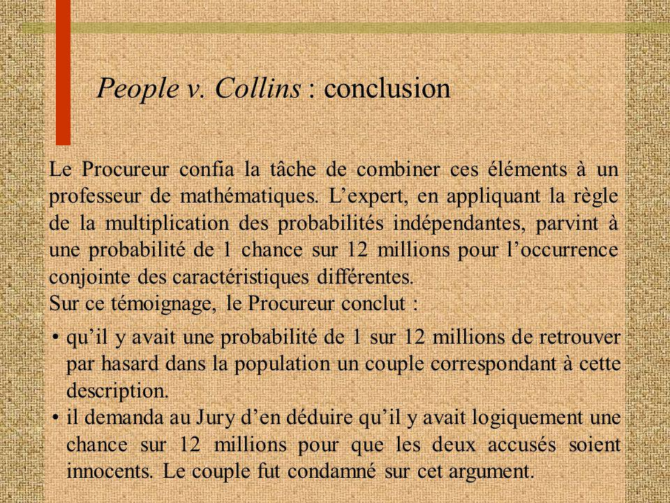 People v. Collins : conclusion