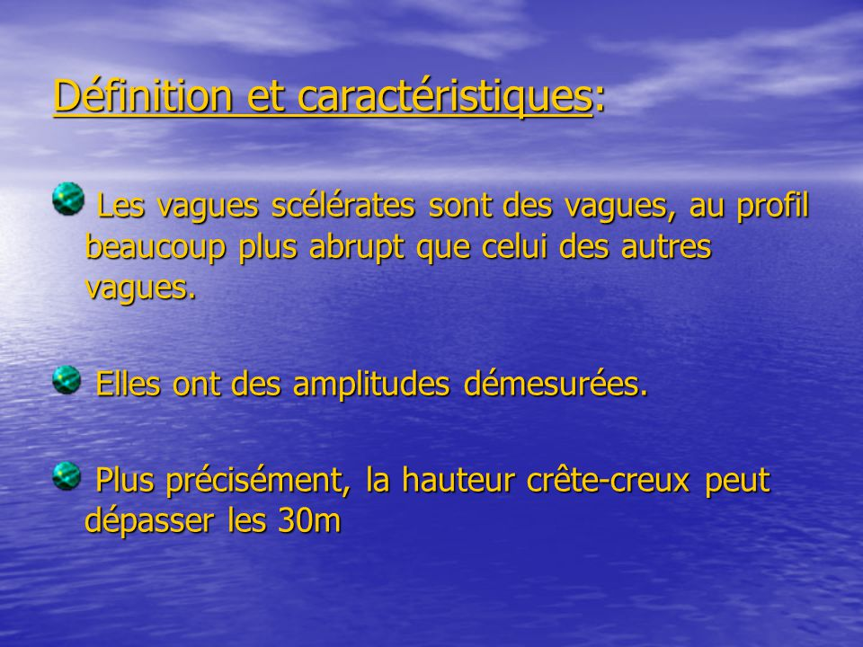 Définition et caractéristiques: