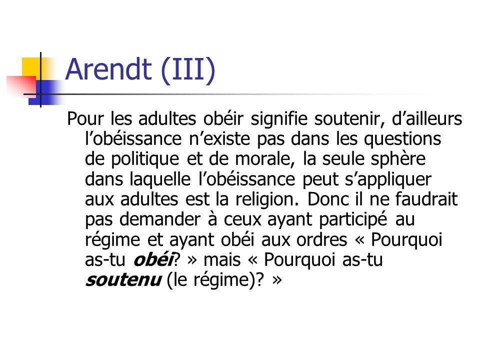 Arendt (III)