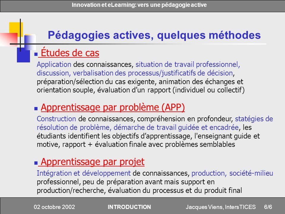 Pédagogies actives, quelques méthodes