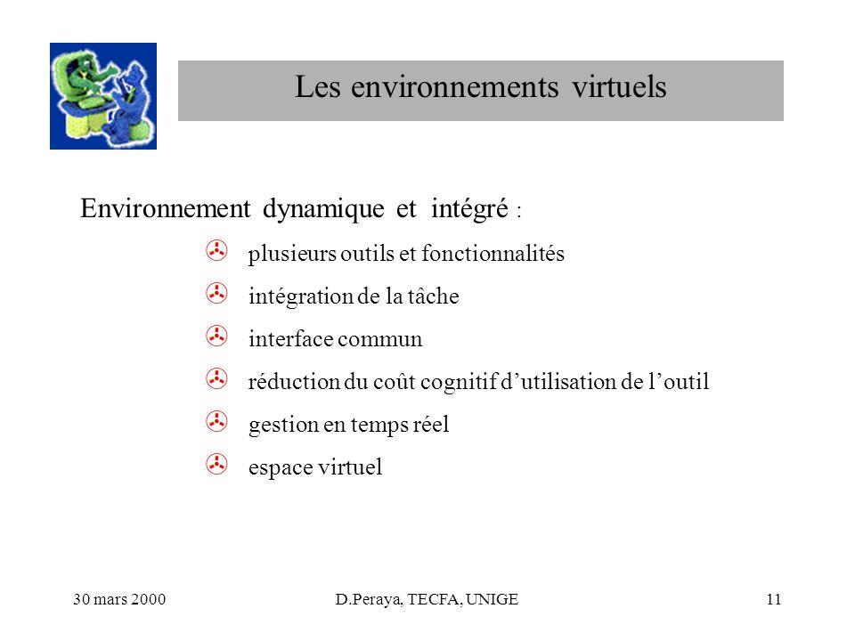 Les environnements virtuels