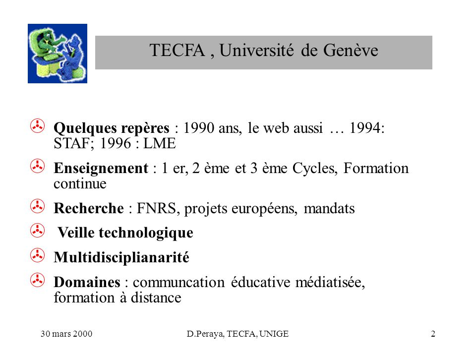 TECFA , Université de Genève