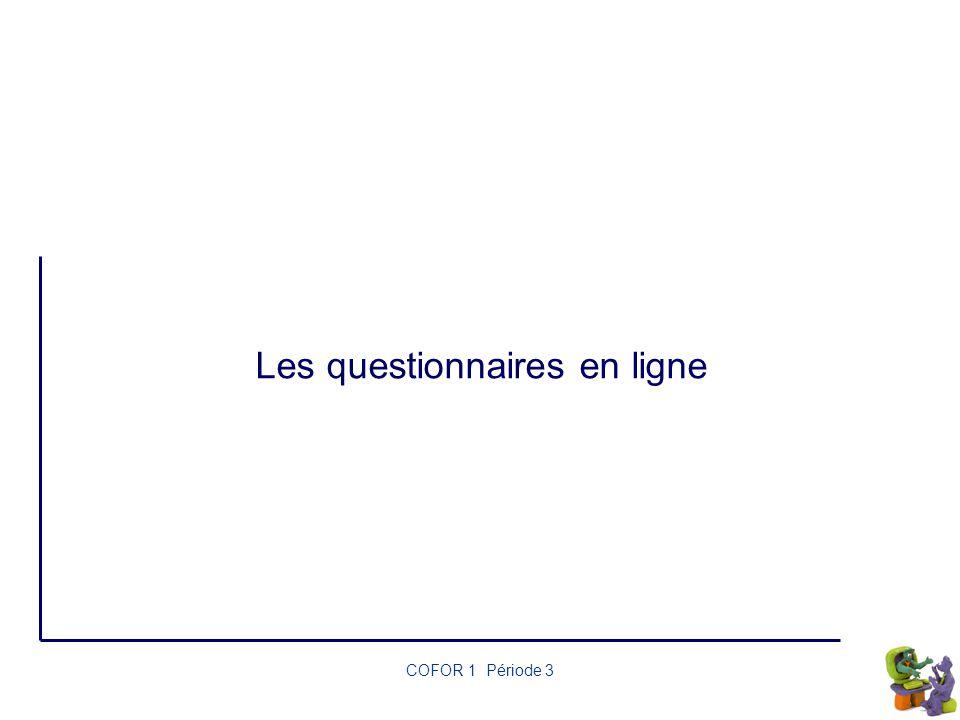 Les questionnaires en ligne
