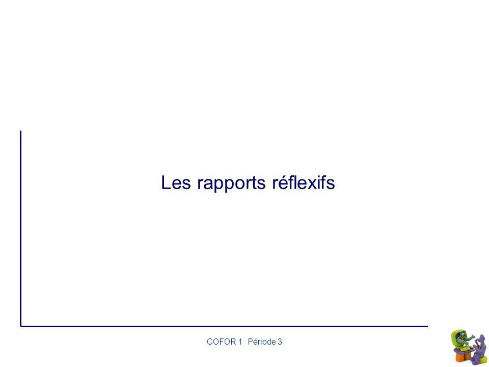 Les rapports réflexifs