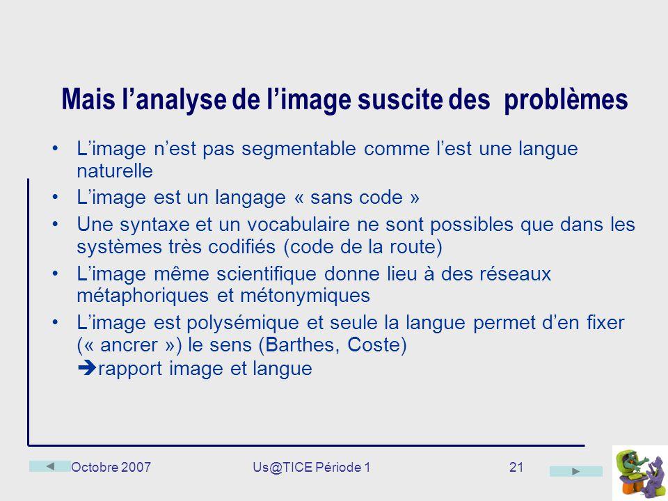Mais l'analyse de l'image suscite des problèmes