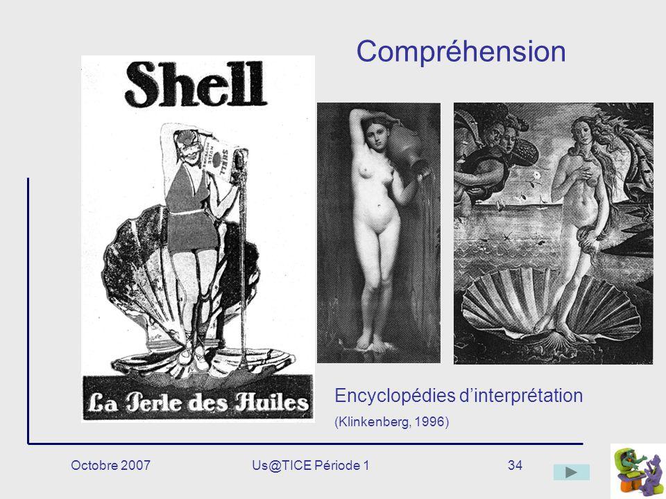 Compréhension Encyclopédies d'interprétation (Klinkenberg, 1996)
