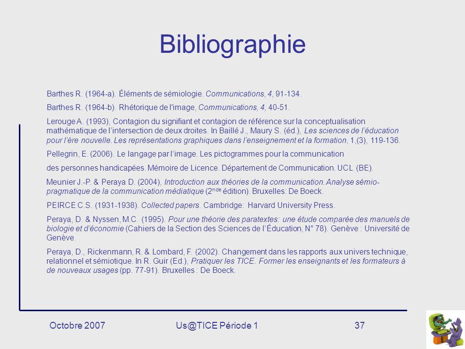 Bibliographie Octobre 2007 Us@TICE Période 1
