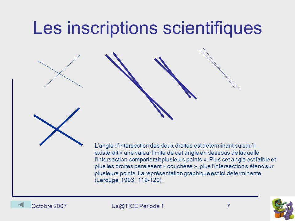 Les inscriptions scientifiques