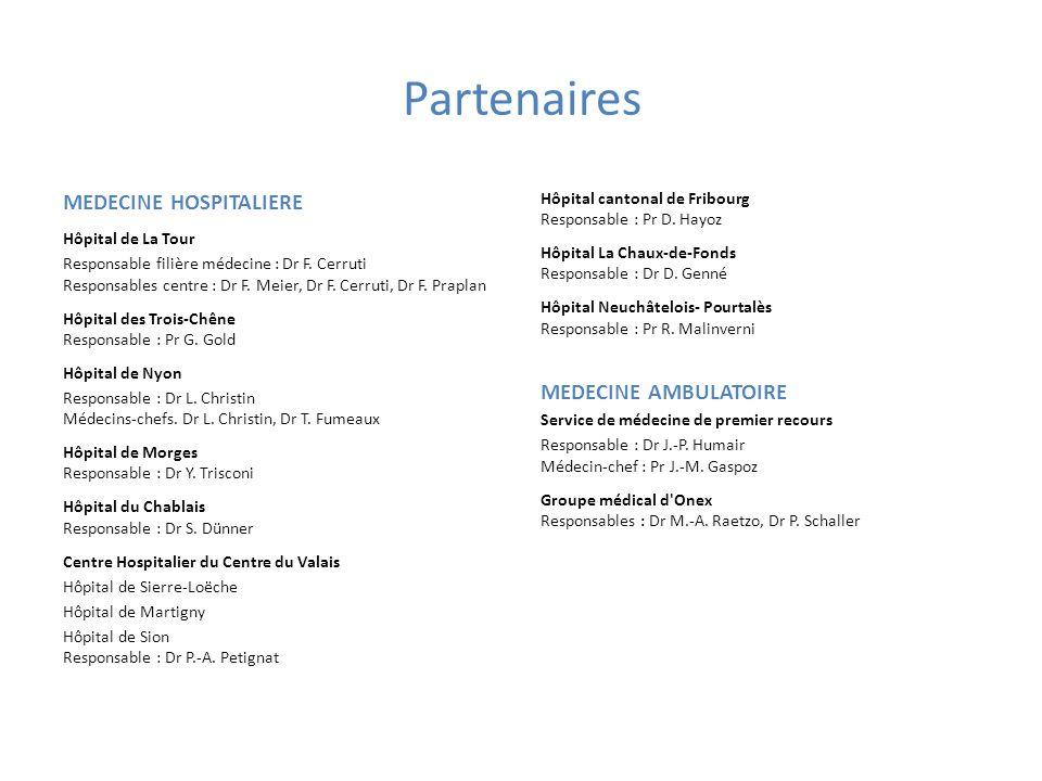 Partenaires MEDECINE HOSPITALIERE MEDECINE AMBULATOIRE