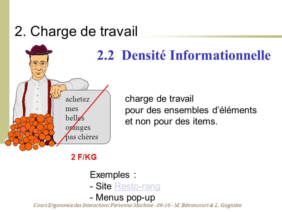 2.2 Densité Informationnelle