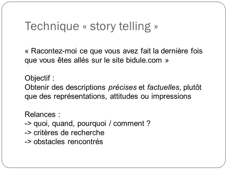 Technique « story telling »