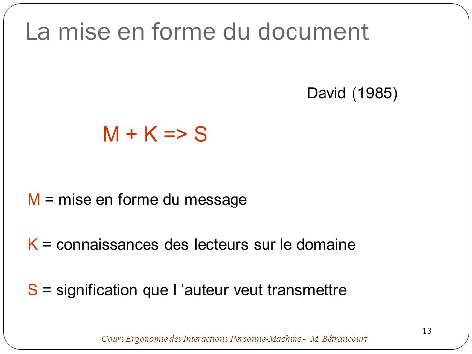 La mise en forme du document