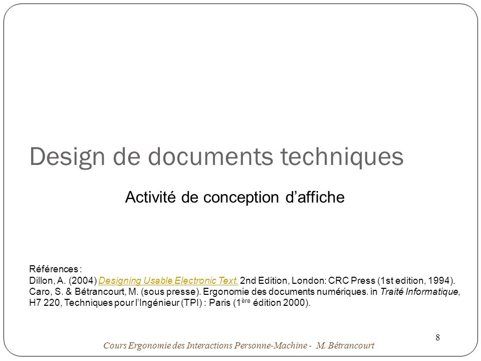 Design de documents techniques