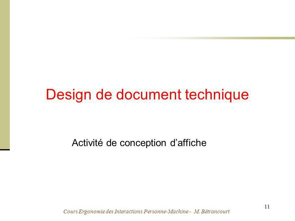 Design de document technique