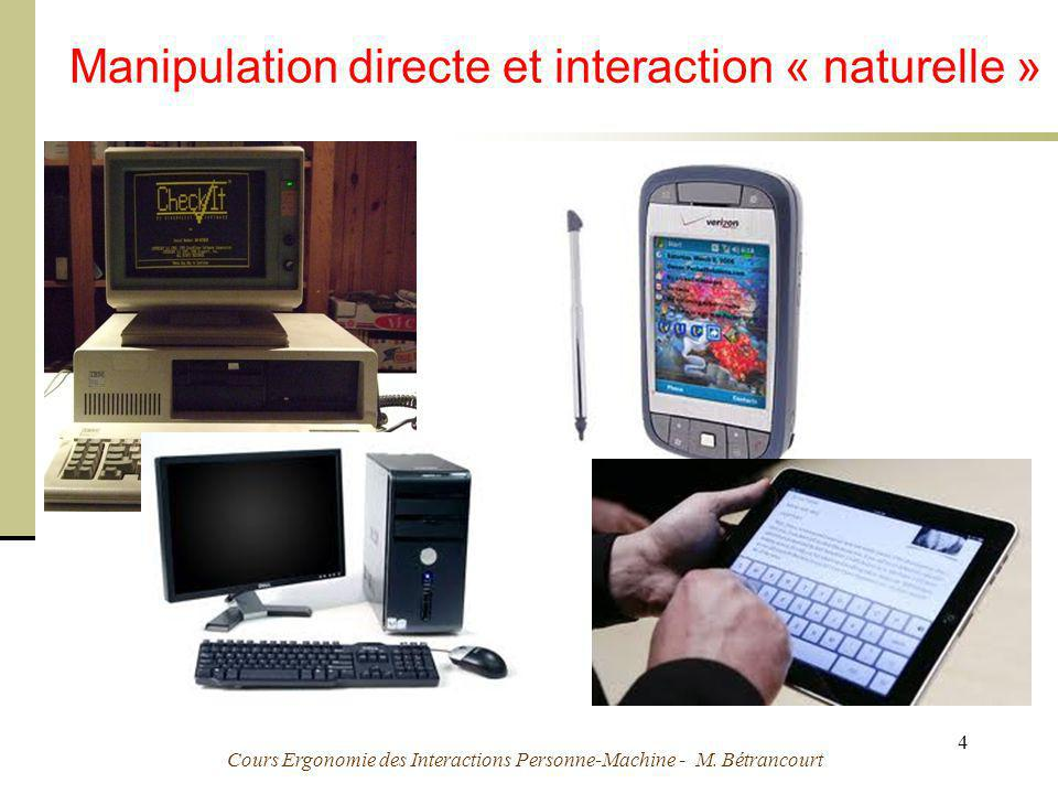 Manipulation directe et interaction « naturelle »