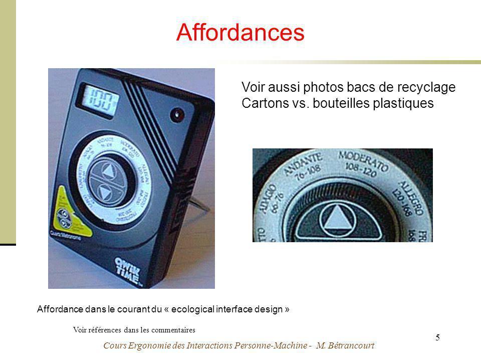 Affordances Voir aussi photos bacs de recyclage