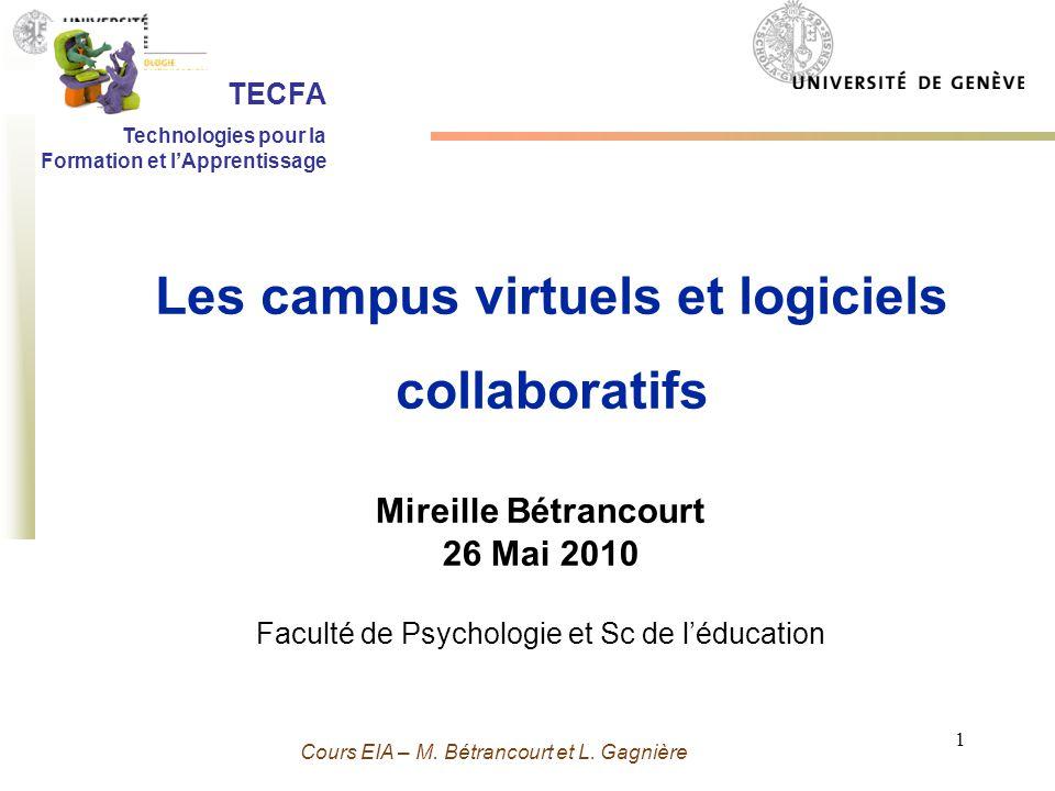 Les campus virtuels et logiciels collaboratifs