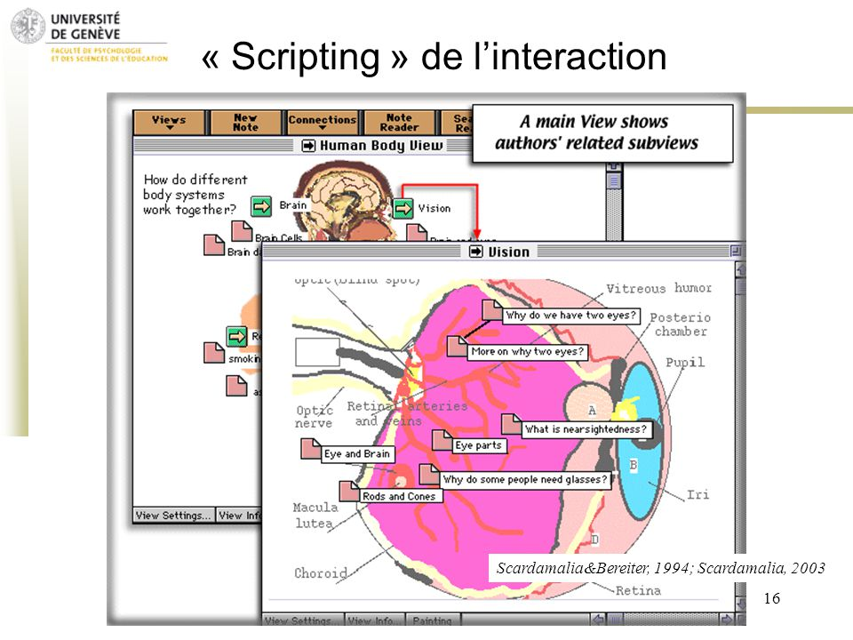 « Scripting » de l'interaction