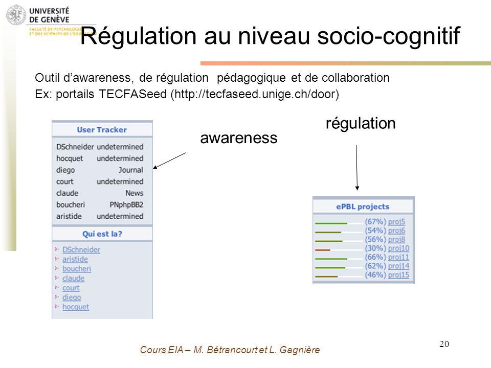 Régulation au niveau socio-cognitif