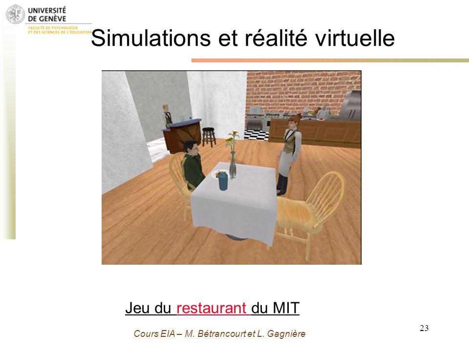 Simulations et réalité virtuelle
