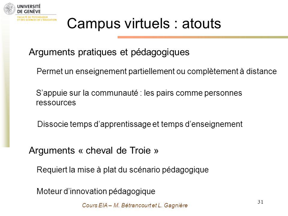 Campus virtuels : atouts