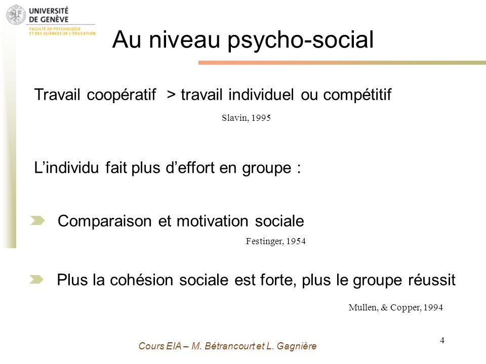Au niveau psycho-social