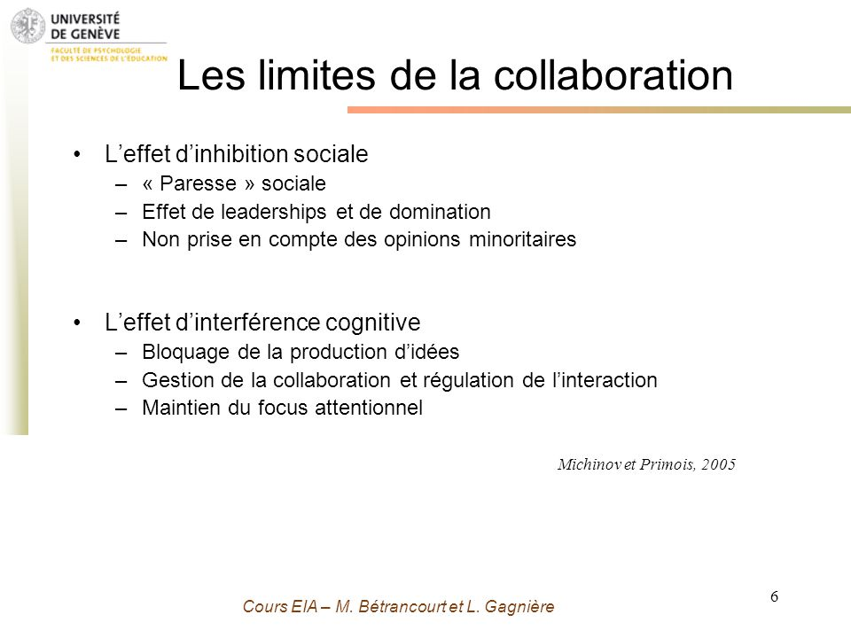 Les limites de la collaboration