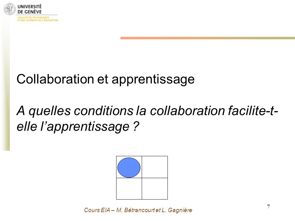 Collaboration et apprentissage