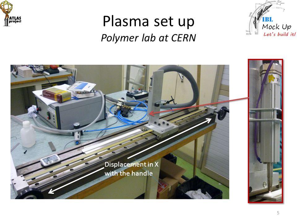 Plasma set up Polymer lab at CERN