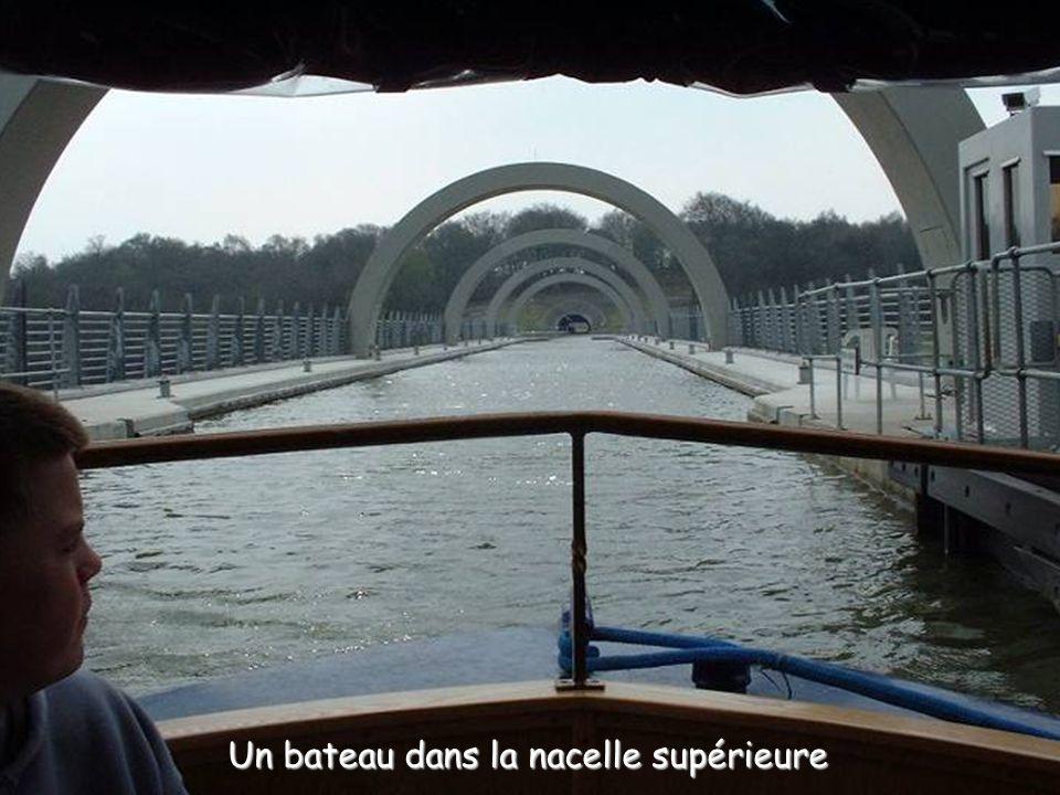 Un bateau dans la nacelle supérieure