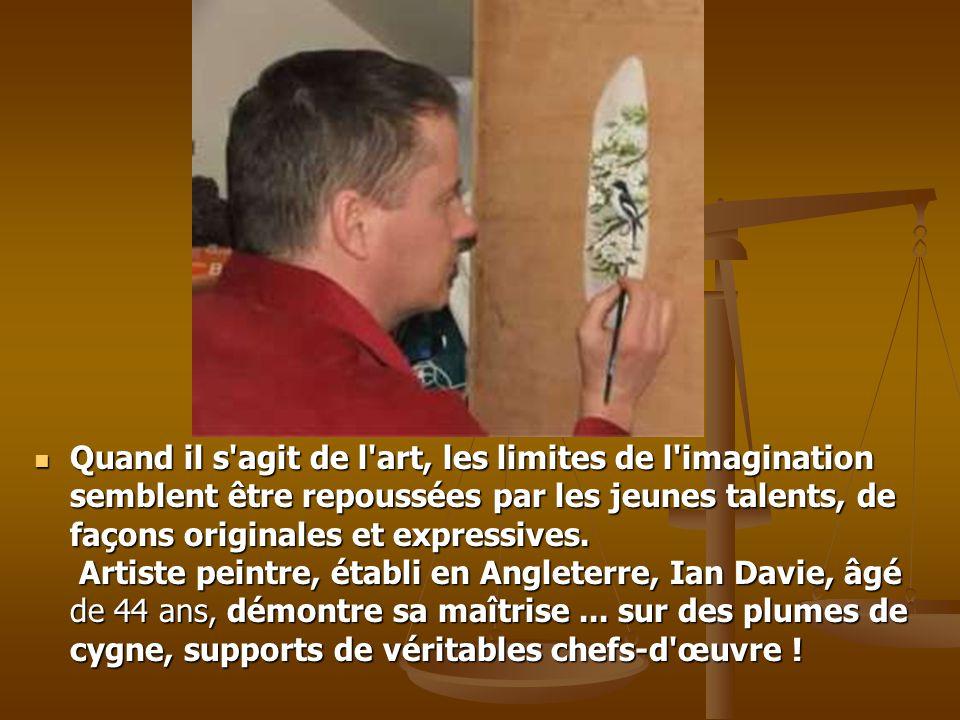 Quand il s agit de l art, les limites de l imagination semblent être repoussées par les jeunes talents, de façons originales et expressives.