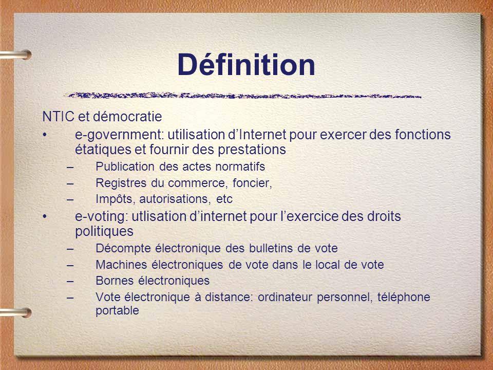 Définition NTIC et démocratie