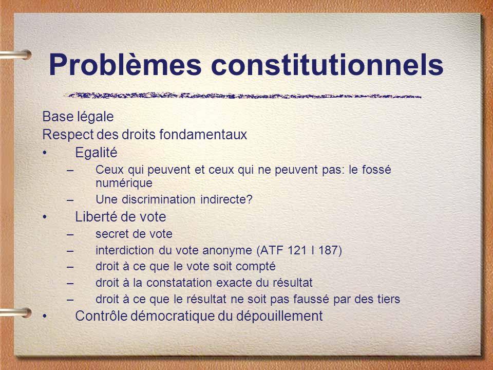 Problèmes constitutionnels