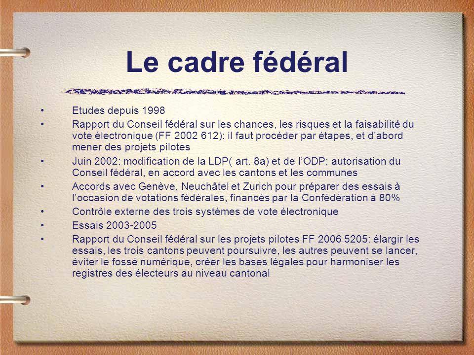 Le cadre fédéral Etudes depuis 1998