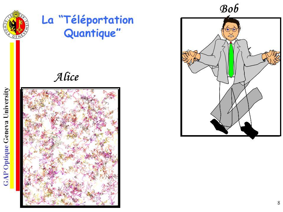 Bob Récepteur La Téléportation Quantique Alice Emetteur o