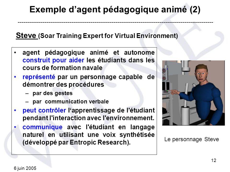 Exemple d'agent pédagogique animé (2)