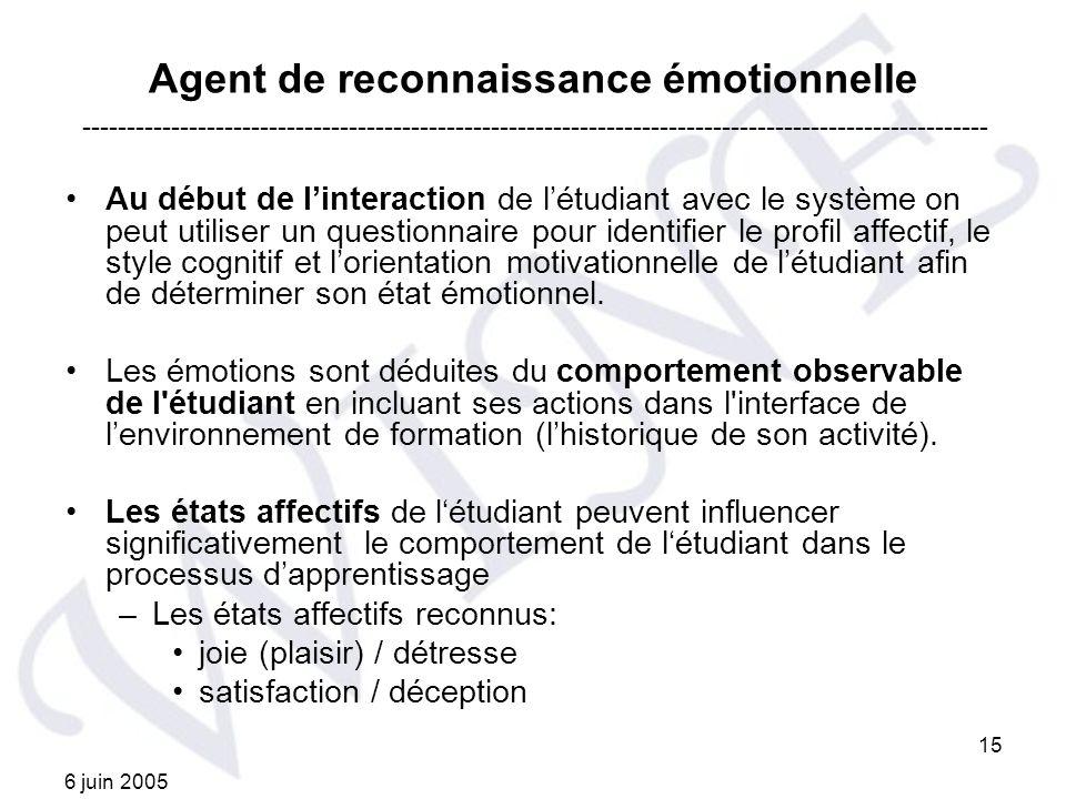 Agent de reconnaissance émotionnelle