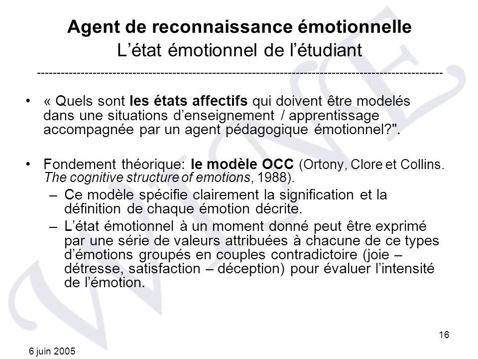 Agent de reconnaissance émotionnelle L'état émotionnel de l'étudiant