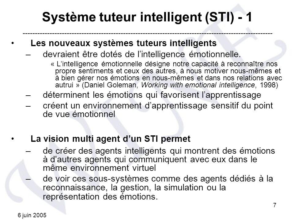 Système tuteur intelligent (STI) - 1
