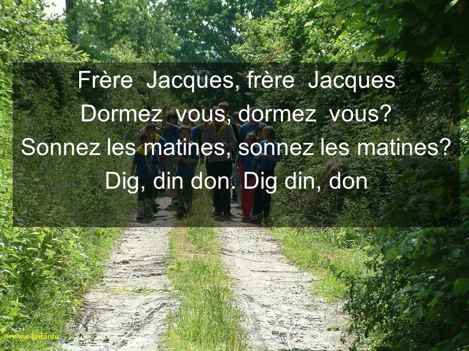 Frère Jacques, frère Jacques Dormez vous, dormez vous