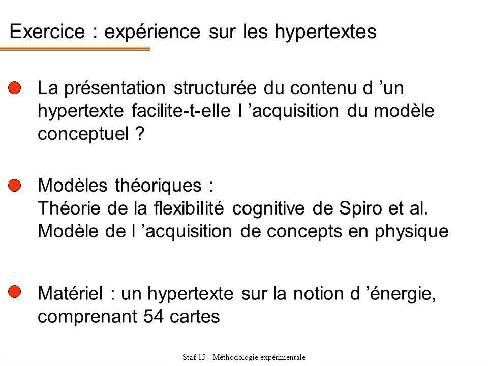 Exercice : expérience sur les hypertextes