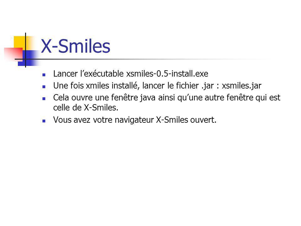 X-Smiles Lancer l'exécutable xsmiles-0.5-install.exe