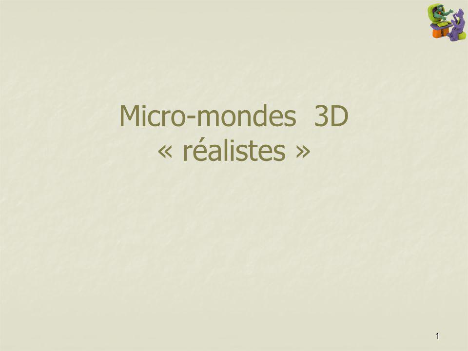Micro-mondes 3D « réalistes »